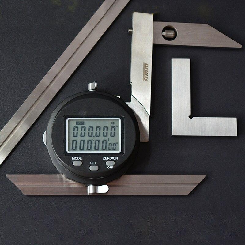 Outil de mesure d'angle électronique numérique universel en acier inoxydable outil de mesure d'angle électronique de haute précision 3 V