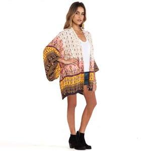 75bc70b3917 ANSELF Women Chiffon Printed Long Blouse Top Plus Size