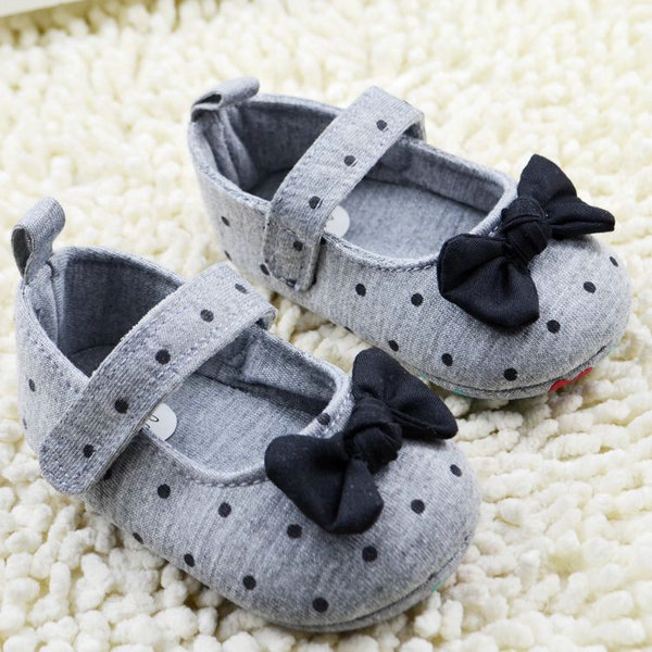 Shoes Toddler Baby-Girl Prewalker Soft-Sole Polka-Dot Bowknot Comfort Newly
