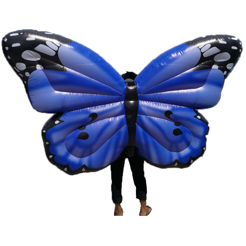Fancy Inflatable Butterfly Colorful Costume Halloween Adult Kid Party Suit Inflatable Clothing Children Christmas Costumes