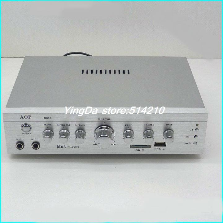 220V High-power power amplifier/ 12V car reverberation karaoke borne power amplifier 150W+150W support SD card USB microphone платье imperial imperial im004ewrsb46