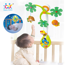 HUILE TOYS 818 Baby Toys Nursery Cot Mobile with Musical Lullaby Sounds Rattle Rotating Recreation Ground Bed Bell 0-12 Months