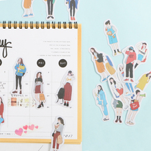 40pcs/pack Me and cat stickers Stickers Decorative Stationery Craft Scrapbooking DIY Stick Label