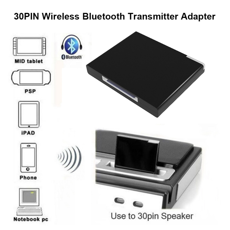 30Pin Bluebooth Audio Receiver Adapter For IPod For IPhone Xiaomi SamSung Nokia Smartphone