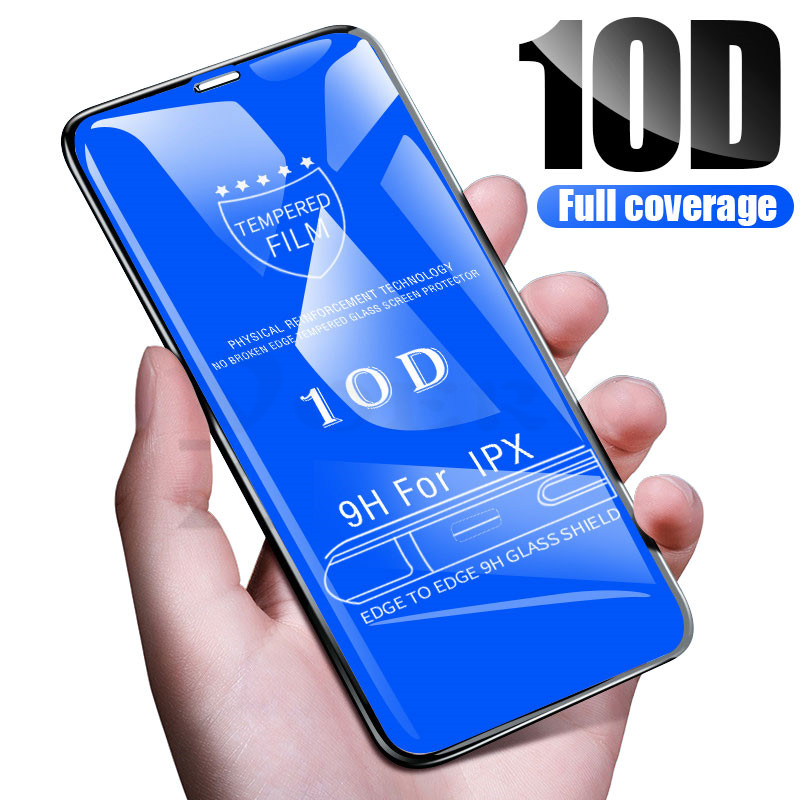 10D Tempered Glass For Iphone eight 7 6 6S Plus 5 5S Se X 10 Display screen Protector Full Cowl Protecting Glass For Iphone Xr Xs Max Movie
