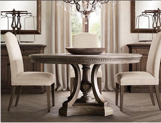 Amerikaanse neo klassieke franse eiken hout ronde tafel restaurant