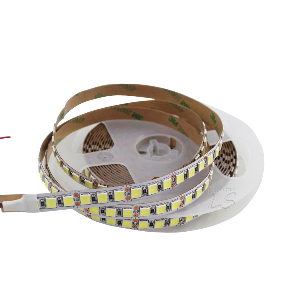 SMD 5054 LED Strip 5M 120leds/m Flexible Tape Light DC12V more bright than 5050 2835 5630 Cold white/ice blue/Pink/Red