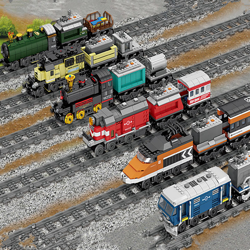 DHL IN STOCK H&HXY 98230-98235 02008 02009 02010 21011 21006 02039 Battery Powered Trains Building Block Sets model Toys gifts