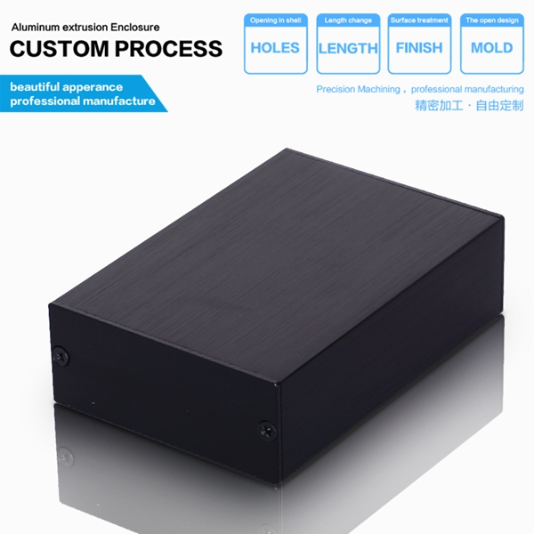 Free shipping 58*24-80mm(width x high x length) aluminum pcb instrument box enclosure case project /aluminum extrusion box 1 piece free shipping electrical box case project electric distribution box desktop enclosure 210x104x44mm