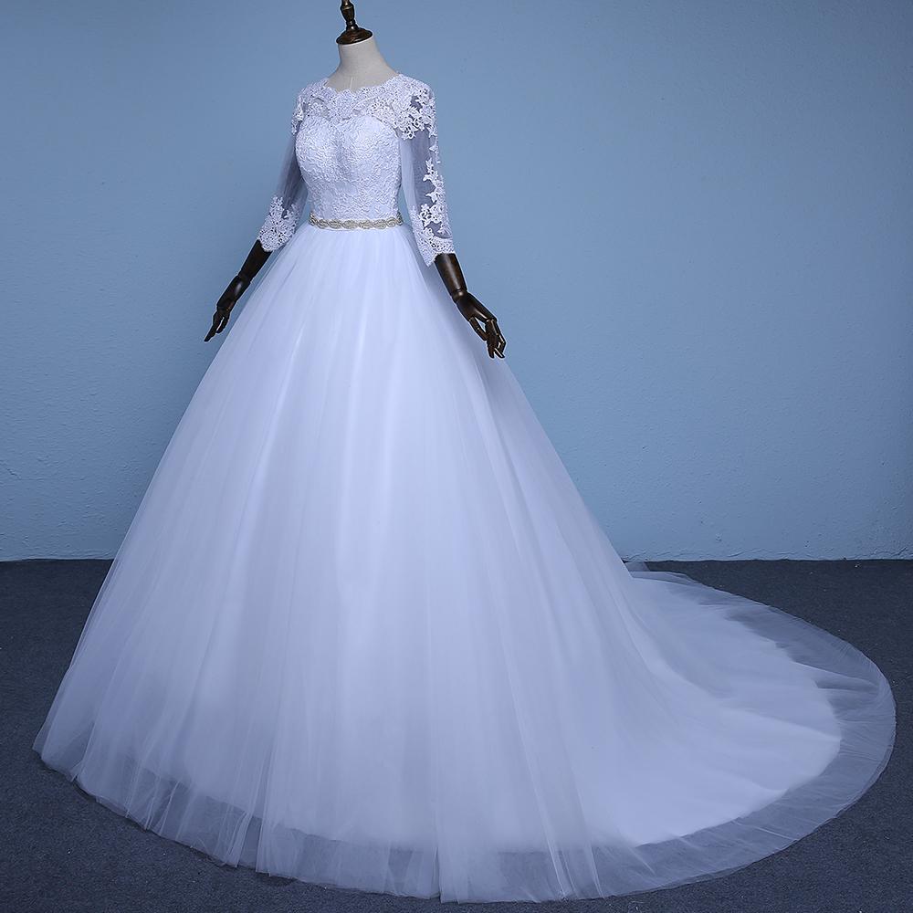 Venta caliente Noble vestido de Bola vestidos de Novia Sencillos ...