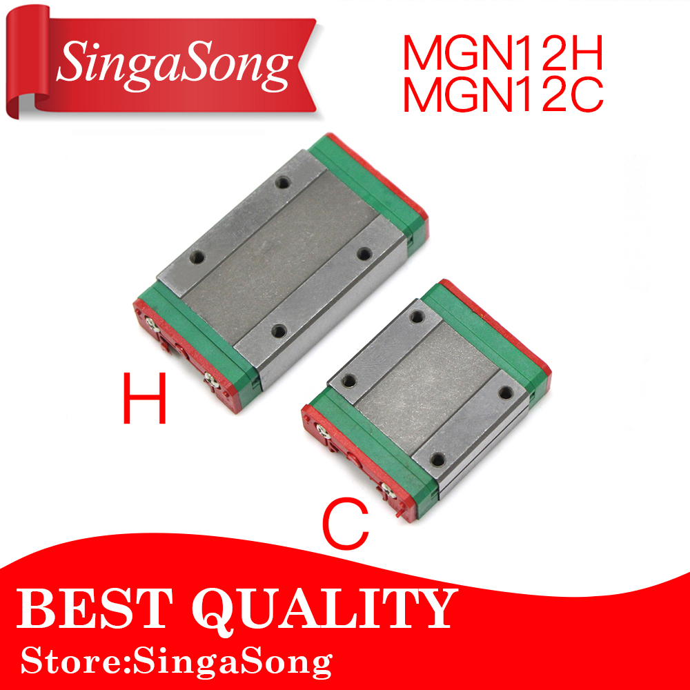 MGN12H MGN12C for linear bearing sliding block match use with MGN12 for linear guide for cnc xyz diy engraving machine