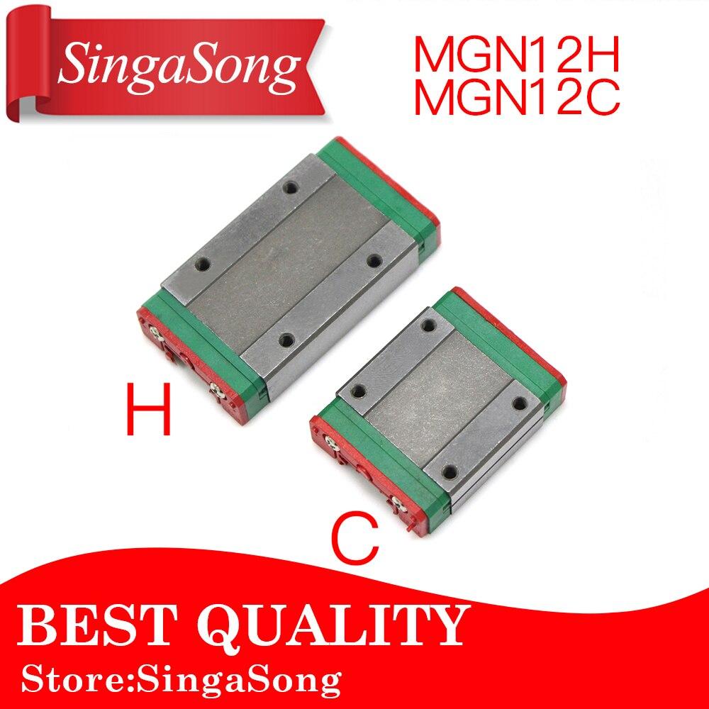 MGN12H MGN12C para rodamiento lineal bloque deslizante fósforo con MGN12 para guía lineal para CNC XYZ DIY máquina de grabado