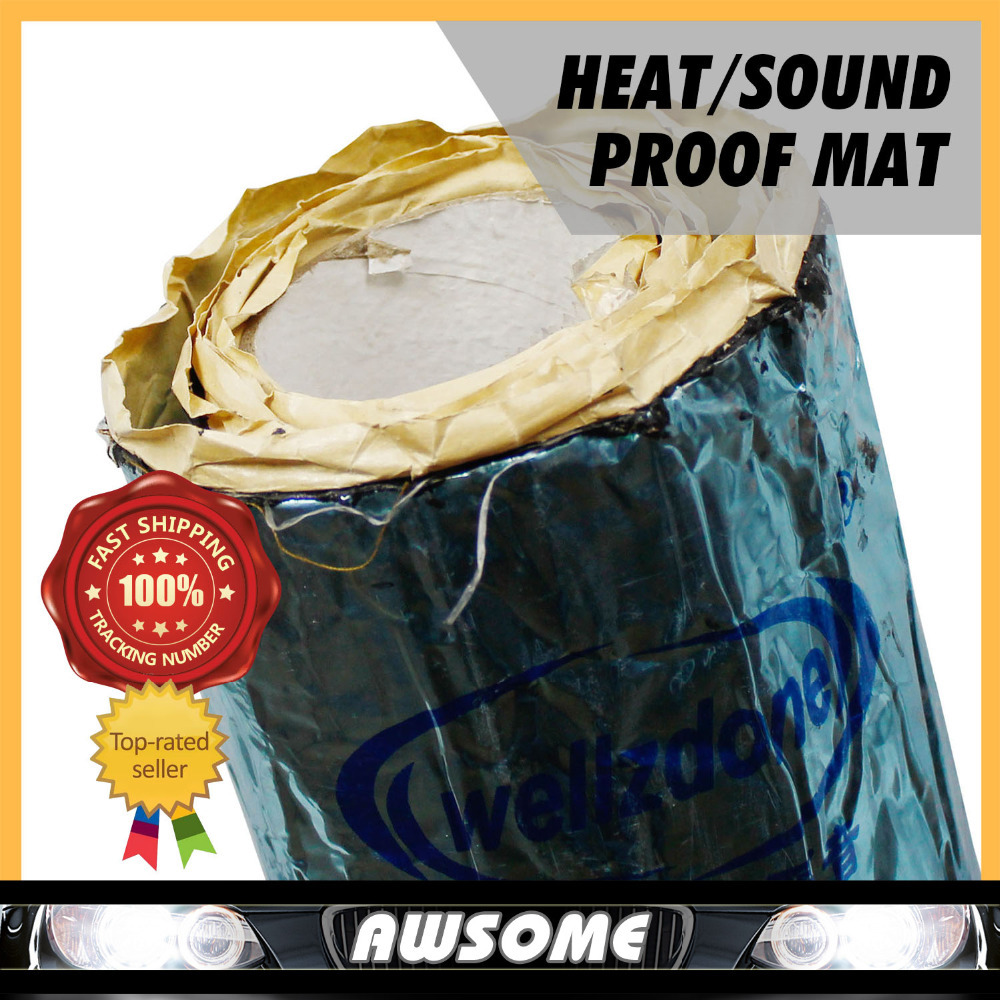 "40""x18\"" 100cmx46cm Car Truck Heat Sound Control Deadening Fire Retardant Mat For Ceiling Hood Engine Firewall Environmental"