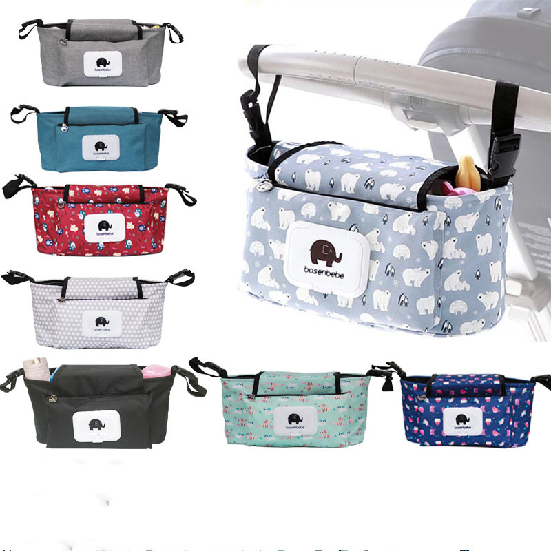 Strollers Baby Trolley Bag With Detachable Handbag Multifunctional Baby Stroller Organizer Pram Buggy Cart Hanging