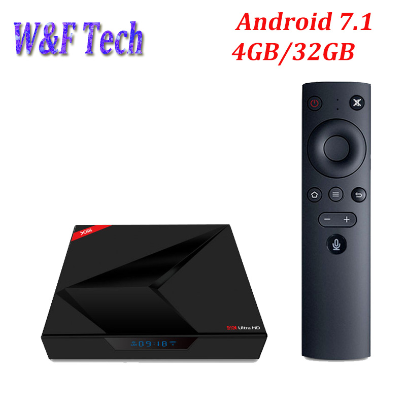 X88 Android 7.1 TV Box 4G 32G RK3328 Quad Core With Voice Control Smart Media Player 4K H,265 BT Dual WiFi Set top box ugoos ut3s android linux dual boot rk3288 4g 32g media player