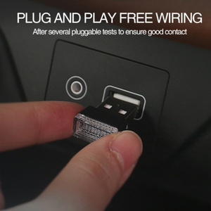 Image 3 - 1/3/4/7Pcs Auto Licht Mini Usb Plug Licht Auto interieur Sfeer Licht Lamp In Auto Ambient Neon Kleurrijke Auto Accessoires