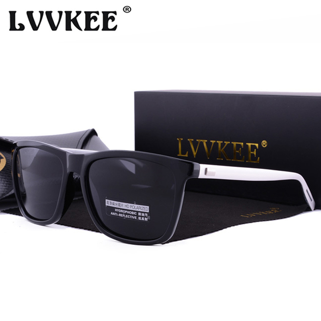 91aaaff33542 LVVKEE 2018 Brand Classic Polarized Sunglasses Men Driving Square Black  Frame Eyewear Male Sun Glasses For Men Wome Oculos Gafas