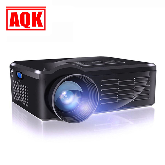 2016 Home Theater 1300 lumens HDMI USB LCD LED Portátil Mini Micro Projetor 3D TV HD 1080 P Projetor Projetor Projektor Beamer