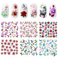 Special Offers Nail Stickers 6pcs/lot Beautiful 3D Flower Water Stickers Fashion DIY Nail Art Decorations Tools Free Shipping