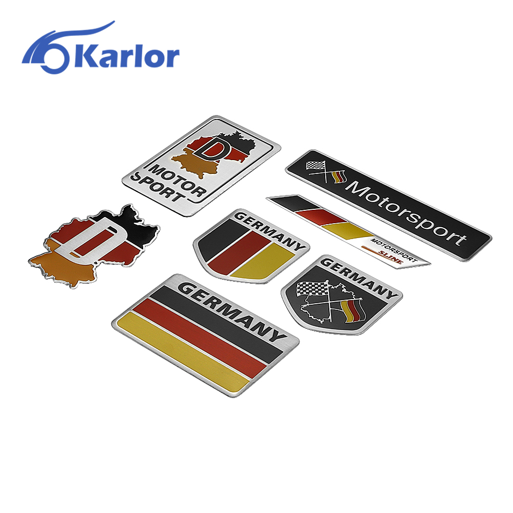 germany german flag 3d car stickers aluminium emblem badge decal sticker racing motorsports for. Black Bedroom Furniture Sets. Home Design Ideas