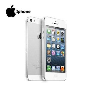 100% Factory Original Iphone 5 Sealed box Unlocked Apple Cell phone 16GB 32GB ROM 16GB 32GB 64GB IOS 4.0 inch 8MP WIFI GPS Used 2