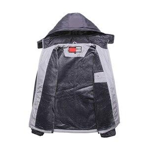 Image 2 - Novos conjuntos de inverno além de veludo masculino ternos do esporte conjunto de fitness treino quente zip bolso casual terno roupas masculinas