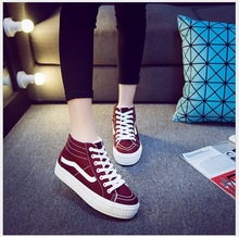 2016 winter lovers shoes high-top canvas shoes  women students flat shoes casual shoes warms snow boots