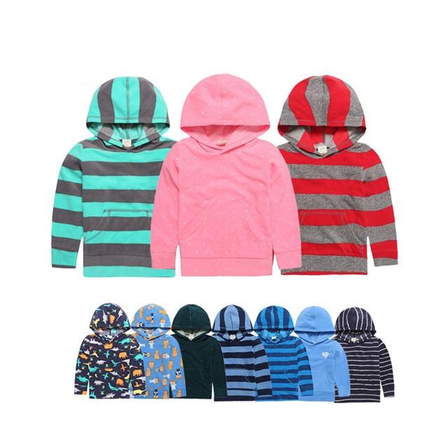 2017New Alta Calidad Polar Fleece con capucha muchachos de la muchacha Ropa Del Cabrito Superior sweatershirt chaqueta para la muchacha del muchacho ropa deportiva de primavera Otoño