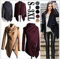 Мода Outerwears Женщины Весна Дизайн Длинные Кашемир Пальто Desigual Женщины Траншеи Пальто Шерсти Меховой Манто Abrigos Mujer