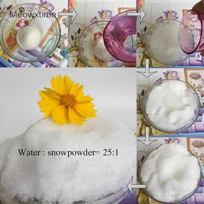 100g/bag Mer Christmas Gift Make Your Own Decoration DIY Snowflake Powder Man-made Magic Home Decor Artificial Snow Powder Scene