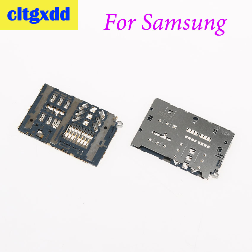 cltgxdd SIM Card Socket Reader Slot tray Holder Connector For Samsung Galaxy A9 A9100 A9000 A7100 A5100 A3100 C7 Pro C7000 C7010(China)