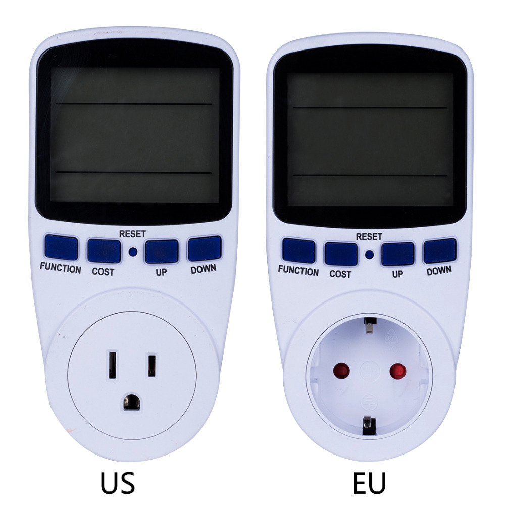New AC Power Meter 220v Digital Wattmeter EU Energy Meter Watt Monitor Electricity Consumption Measuring Socket Analyzer
