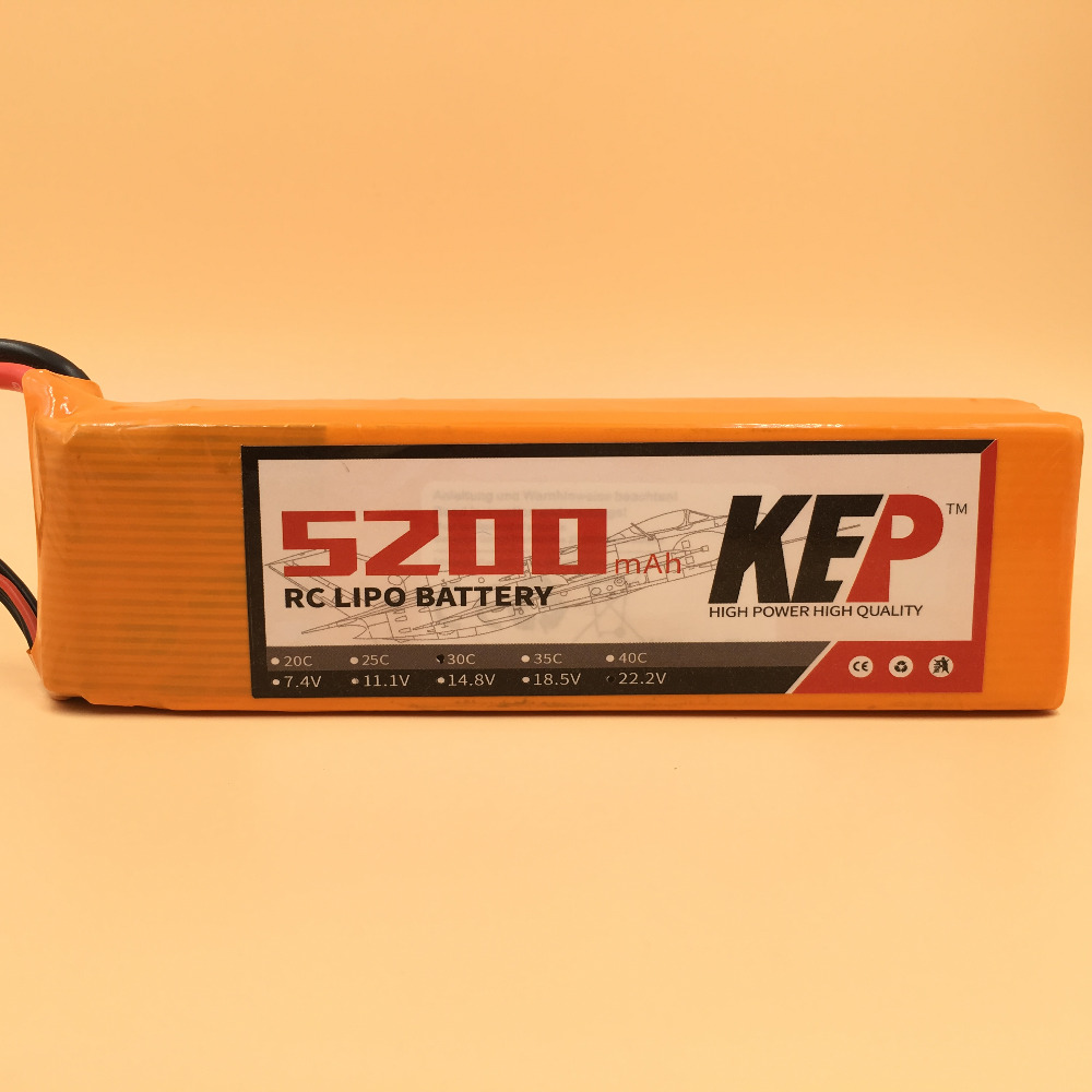 KEP 6S RC Lipo Battery 22.2v 5200mAh 40C For RC Aircraft Helicopter Drones Car Boat Quadcopter Airplane Li-Polymer Batteria 6S wild scorpion rc 18 5v 5500mah 35c li polymer lipo battery helicopter free shipping