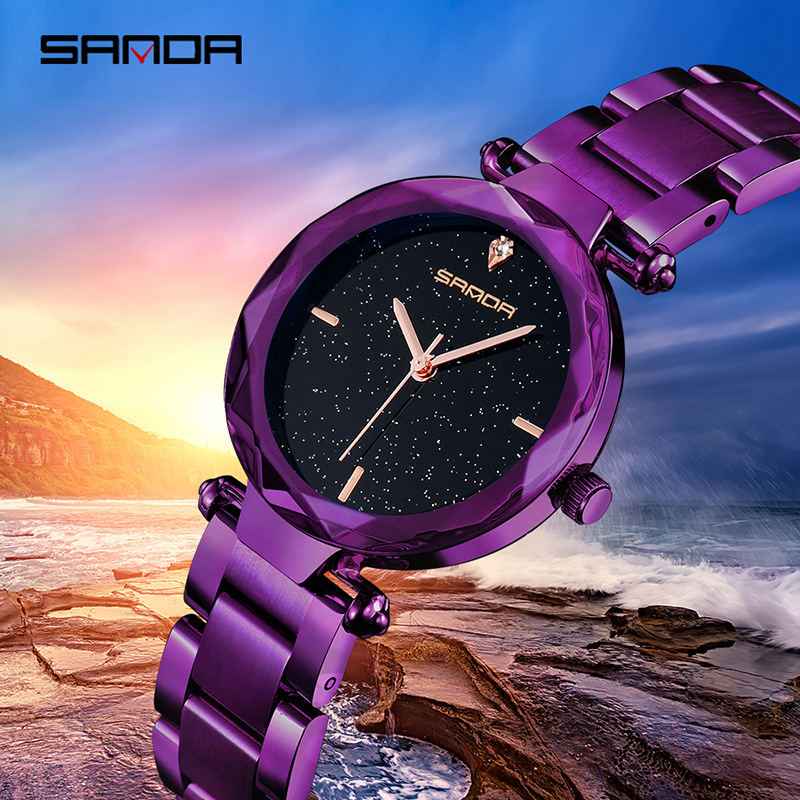 Steel Belt Women Watches Fashion Quartz Watch Ladies Starry Fashion Watch Ladies Luxury Table Top Brand Waterproof Clock Female