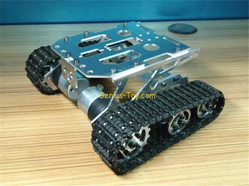 aluminium alloy metal Smart car chassis tank robot crawler undercarriage track robot chassis H300 261 tank chassis intelligent car crawler chassis crawler vehicle tank vehicle tank robot metal motor