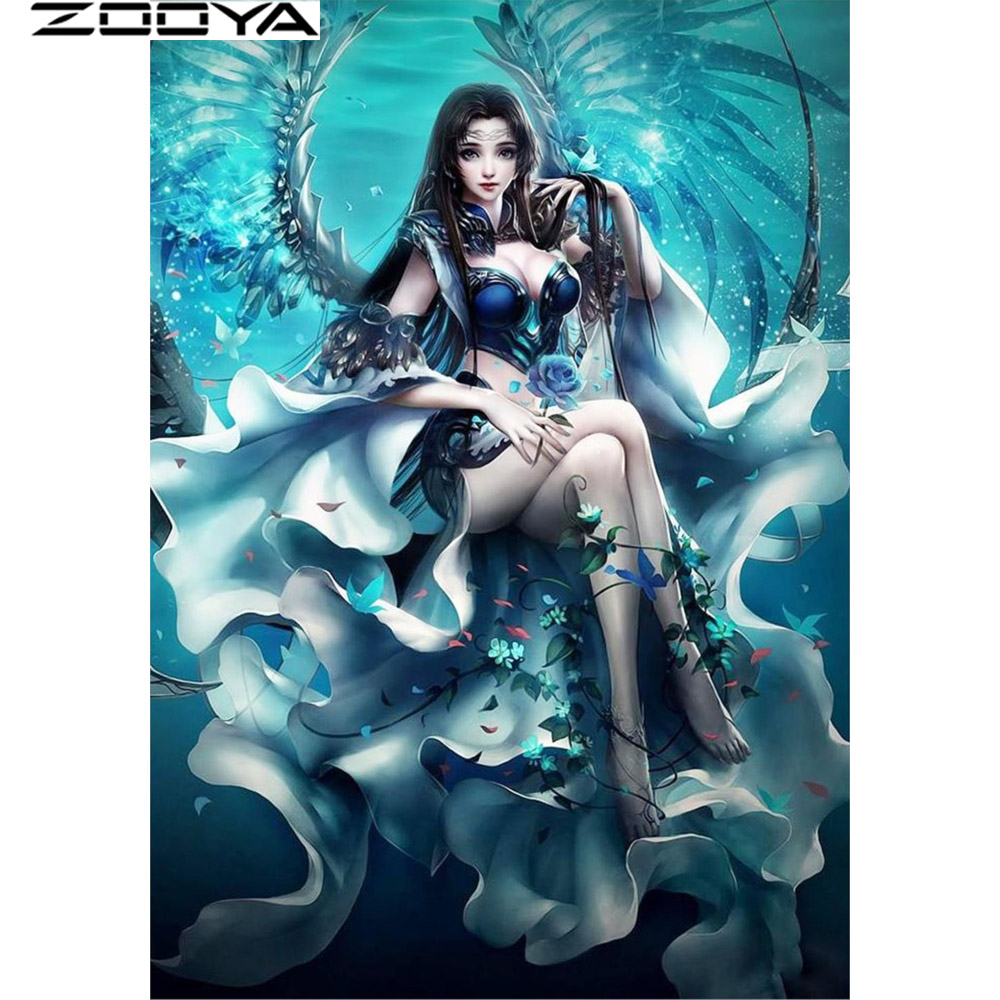 Home & Garden Adaptable Zooya 5d New Diy Diamond Painting Cross Stitch Crystal Needlework Sitting On The Chair Of Sexy Women Diamond Embroidery Rf251 Limpid In Sight