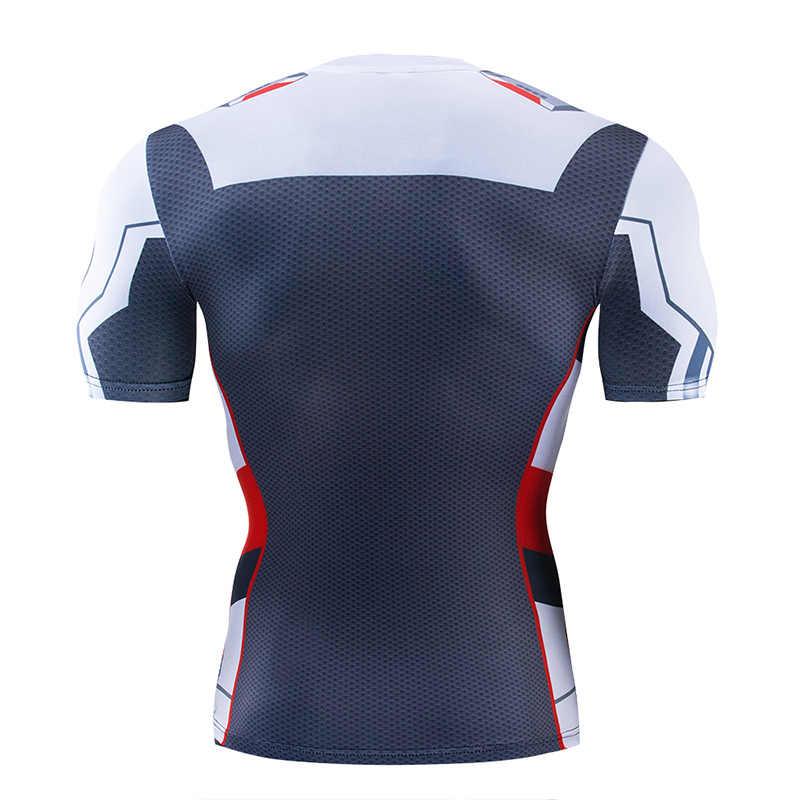 Мстители эндгейм квантовое царство косплей футболки с 3D-принтом унисекс компрессионные фитнес быстросохнущие футболки Летние футболки с супергероями