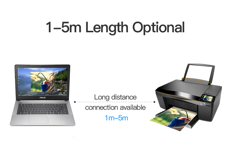 Vention USB 2.0 Type A Male To B Male Cable To Sync Data In Scanner And USB Printer 5
