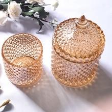 Хрустальные стеклянные банки для хранения сахара шоколадные банки Алмазная коробка для конфет ватные палочки коробка для дома