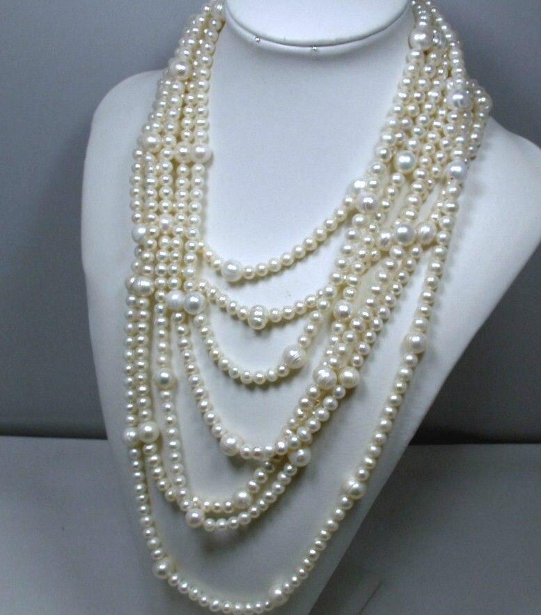 Livraison gratuite 170 magnifique plus long mer du sud blanc 8-9 MM et 10-11 MM collier de perles clas a ()Livraison gratuite 170 magnifique plus long mer du sud blanc 8-9 MM et 10-11 MM collier de perles clas a ()