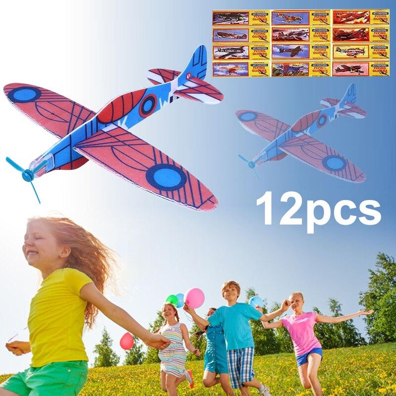 2017 12pcs Diy Hand Throw Flying Glider Planes Foam: Aliexpress.com : Buy 2017 12Pcs DIY Hand Throw Flying