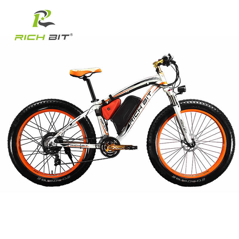 15700e4727c ... RichBit New Snow Electric Bike 48V 1000W Electric Bicycle With 17Ah  Lithium Battery 21 Speed Electric ...