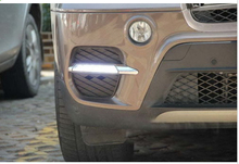 цена на LED daytime running light DRL With Fog lamp cover for X5 E71 2011 2012 2013