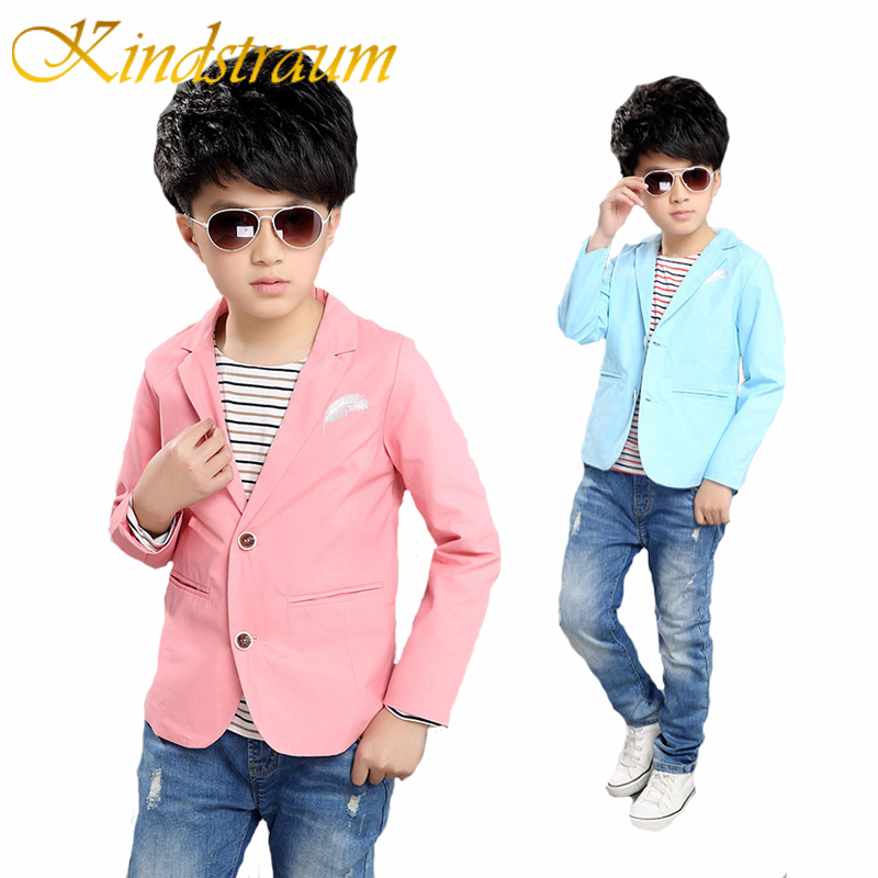Kindstraum New Children Casual Blazers Boys Party Wedding Outwear Marca Solid Kids trajes de algodón Blazer Chaqueta formal, MC724