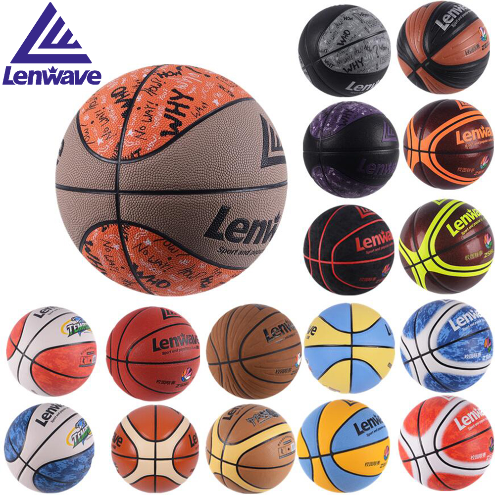 17 Designs High Quality Official Size 5 6 7 PU Leather Basketball Balls Wholesale Retail Basketball Free With Net Bag+ Needle