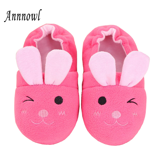 05790cc75ab Kids Slippers Winter Warm Children Shoes Girls Toddler Cartoon Bunny Rubber  Sole Casual Home Wear Sweet Indoor House Loafers