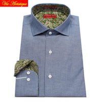 Male Long Sleeve Business Formal Dress Jeans Look Oxford Cotton Shirts Men S Big Size Casual