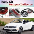 Bumper Lip Deflector Lips For Volkswagen VW Eos Front Spoiler Skirt For Car Lip Fans to Car View Tuning / Body Kit / Strip