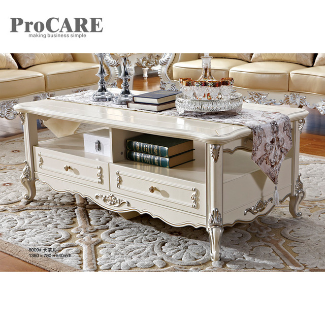 Luxury Antique Gold Leaf Wooden Center Table Coffee Table Designs   8009