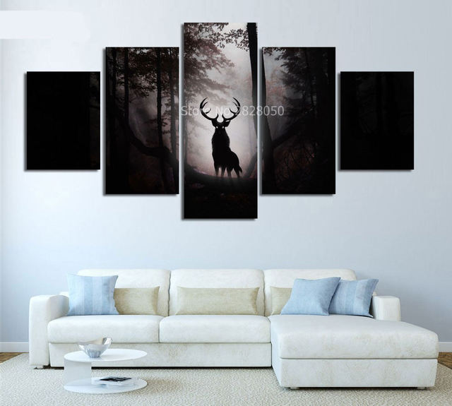 https://ae01.alicdn.com/kf/HTB10u.cRXXXXXXlXpXXq6xXFXXXc/Night-Forest-Deer-Animal-Framed-Canvas-Prints-Painting-Tableau-Peinture-Sur-Toile-Schilderijen-Voor-Woonkamer-Aan.jpg_640x640.jpg